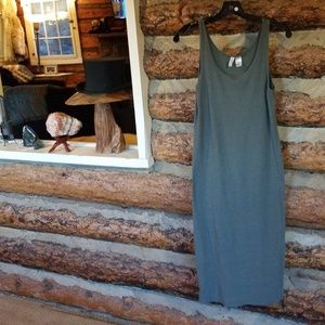 Olive Green Cotton Jersey H&M Tank Dress